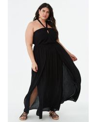 ab86795a4f13 Forever 21 - Women's Plus Size Halter M-split Maxi Dress - Lyst