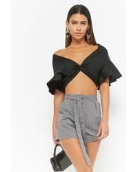 Forever 21 - Pleated Gingham Shorts - Lyst