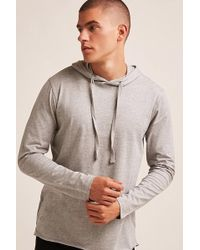 Forever 21 - Hooded Heathered Sweatshirt - Lyst