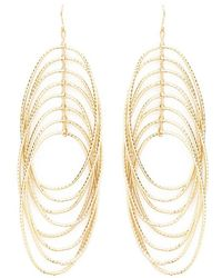 Forever 21 - Tiered Oval Drop Earrings , Gold - Lyst
