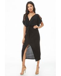 2703fc132f25 Forever 21 High-neck Midi Dress You've Been Added To The Waitlist in ...