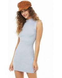 6f4e8b1d35 Forever 21 - Women s Ribbed Mock Neck Dress - Lyst