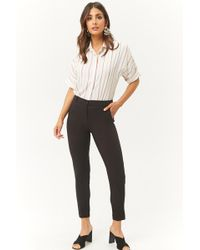 Forever 21 - Tapered-leg Pressed Pants - Lyst