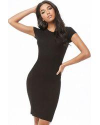Forever 21 - Ribbed Knee-length Dress - Lyst