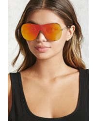 Forever 21 - Mirrored Shield Sunglasses - Lyst