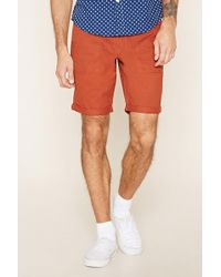 Forever 21 | Cuffed Woven Shorts | Lyst