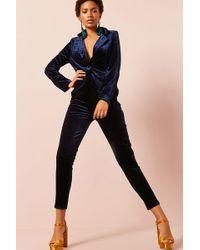 Forever 21 - Velvet Blazer & High-rise Trousers Set - Lyst