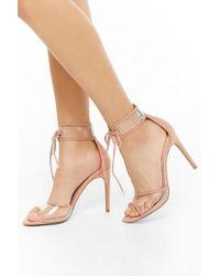 09d8aa7c70c Forever 21 - Women s Faux Suede Lace-up Sandals - Lyst
