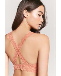 Forever 21 - Lace Crisscross Bralette - Lyst
