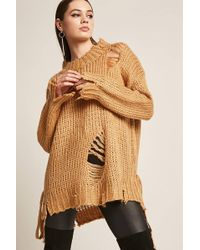 Forever 21 | Oversized Purl Knit Sweater | Lyst