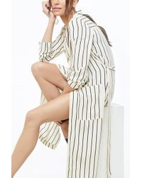 Forever 21 Women's Striped Print Duster Cardigan Sweater