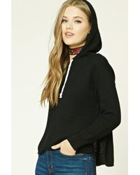 Forever 21 - Ribbed Dropped-sleeve Hoodie - Lyst