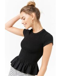 Forever 21 - Smocked Ruffle Top - Lyst