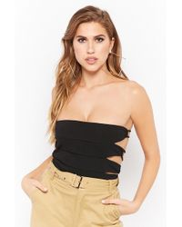 Forever 21 - Body textura cut-out - Lyst