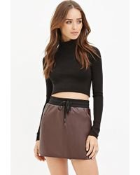 Forever 21 | Faux Leather Drawstring Skirt | Lyst