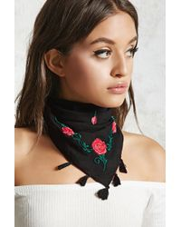 Forever 21 - Floral Embroidered Scarf - Lyst