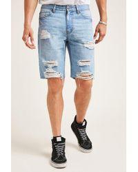 Forever 21 - Destroyed Denim Shorts - Lyst