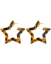 Forever 21 - Tortoiseshell Star Hoop Earrings - Lyst