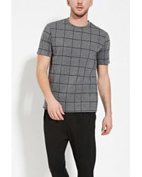 Forever 21 - Grid-patterned Tee - Lyst