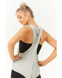 Forever 21 - Active Crisscross-back Muscle Tee - Lyst