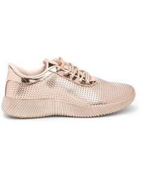Forever 21 - Qupid Textured Metallic Sneakers - Lyst