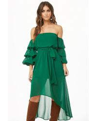 Forever 21 - Off-the-shoulder High-low Dress - Lyst
