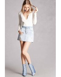 Forever 21 | Geo Pattern Denim Ankle Boots | Lyst