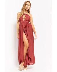 Forever 21 - High-neck M-slit Maxi Dress - Lyst