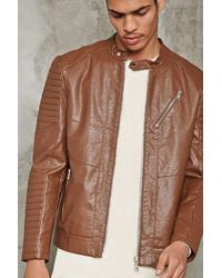 Forever 21 - Ribbed Faux Leather Jacket - Lyst