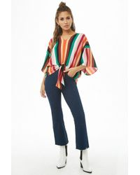 Forever 21 - Women's Multicolor Striped Top - Lyst