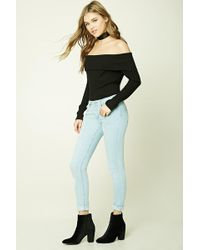 Forever 21 - Low-rise Distressed Skinny Jeans - Lyst