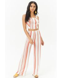 Forever 21 - Striped High-rise Pants - Lyst