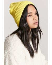 Forever 21 - Ribbed Knit Beanie Hat - Lyst