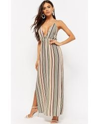 Forever 21 - Striped Strappy Maxi Dress - Lyst