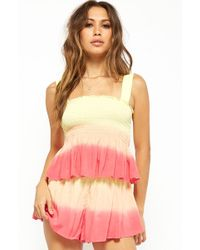 Forever 21 - Ombre Ruffled Smocked Top - Lyst