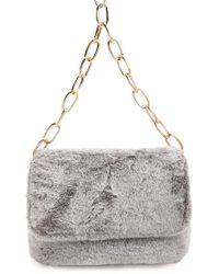Forever 21 - Faux Fur Flap Top Handbag - Lyst df7930da566a4