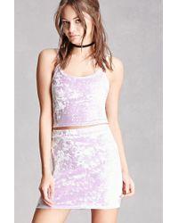 Forever 21 - Women's Crushed Velvet Mini Skirt - Lyst