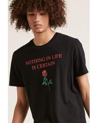 Forever 21 - 's Nothing Is Certain Graphic Tee - Lyst