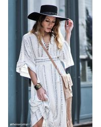 Forever 21 - Contemporary Lace-up Maxi Dress - Lyst