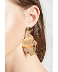 Forever 21 - Hammered Drop Earrings - Lyst