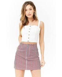 Forever 21 - Multi-striped Denim Skirt - Lyst