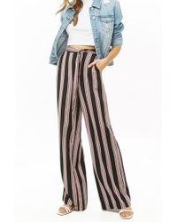 Forever 21 - Women's Multicolour Striped Palazzo Trousers - Lyst