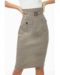 Forever 21 - Women's Glen Check Pencil Skirt - Lyst