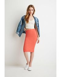Forever 21 - Heathered Pencil Skirt - Lyst
