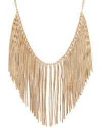 Forever 21 - Snake Chain Bib Necklace - Lyst