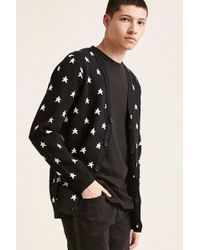 Forever 21 - 's Star V-neck Cardigan Sweater - Lyst