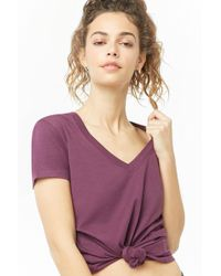 7eb744c3d861c Forever 21 - Women s Active V-neck Tee Shirt - Lyst
