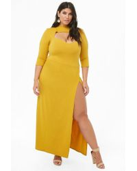 bfde516717 Forever 21 Women s Plus Size Sheer Glitter Star Print Dress - Lyst