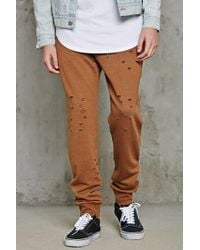 Forever 21 - Distressed Terry Sweatpants - Lyst