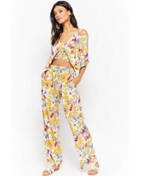 Forever 21 - Floral Print Crop Top & Trousers Set - Lyst
